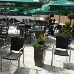 Terrasse des Freizeitheims Hotel Bayerischer Wald*** für barrierefreie Gruppenreisen in Deutschland.