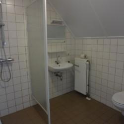 Der Sanitärbereich im niederländischen Feizeitheim Stins.
