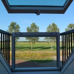 Ausblick vom barrierefreien niederländisches Gruppenhaus Het Hooge Huis in Nordseenähe für Menschen mit Behinderung