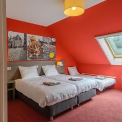 Das Vierbettzimmer im handicapgerechten niederländischen Gruppenhaus SuyderZee.