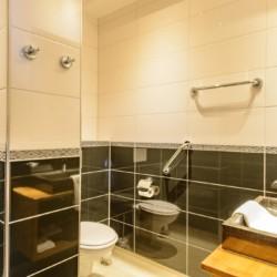 Das Sanitär im handicapgerechten niederländischen Gruppenhaus SuyderZee.
