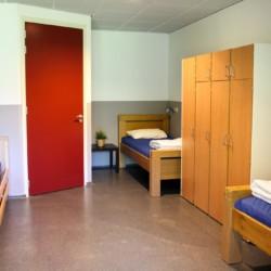 Die Zimmer im Freizeitheim Landerij in den Niederlanden.