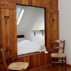 Alkoven im behindertengerechten Gruppenhaus Eik in den Niederlanden