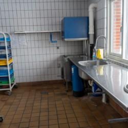 Die Küche im Gruppenhause Thy Bo in Dänemark.