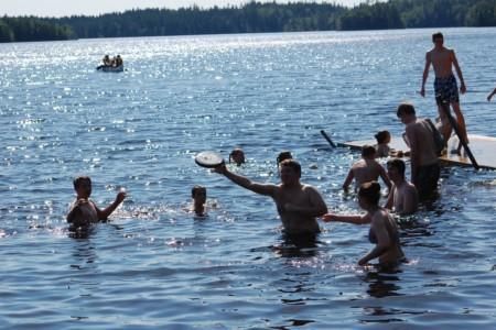 Badestelle am schwedischen Gruppenhaus Bovik Lägergård.
