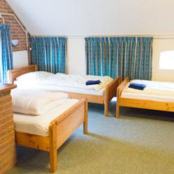 Ein Mehrbettzimmer im Gruppenhaus De Boerschop in den Niederlanden.
